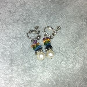Screw Back Pearl Earrings